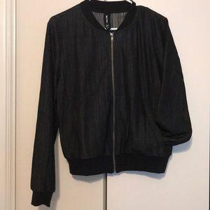Agnes & Dora M Black Bomber Jacket